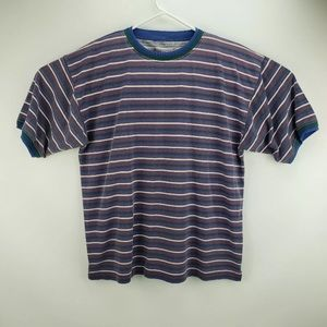 Vtg 90's Essential Stripe Double Collar Size L